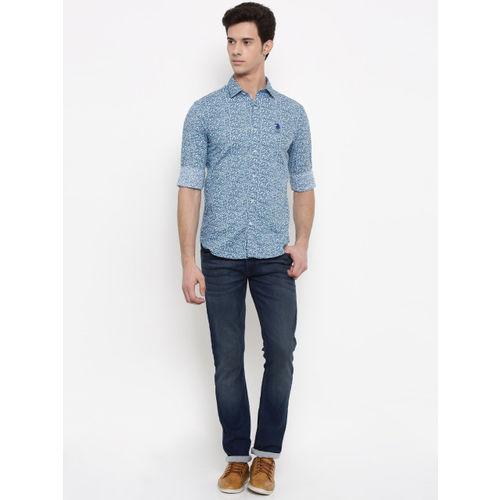 U.S. Polo Assn. Blue Printed Casual Shirt