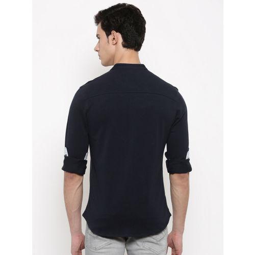 U.S. Polo Assn. Men Navy Blue Regular Fit Solid Casual Shirt