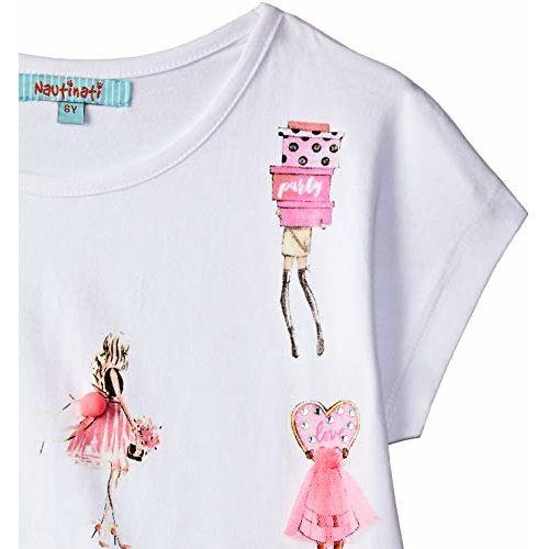 nauti nati Girls' Plain Regular Fit T-Shirt