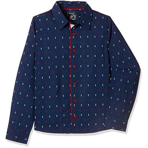 nauti nati Boys' Plain Regular Fit Shirt
