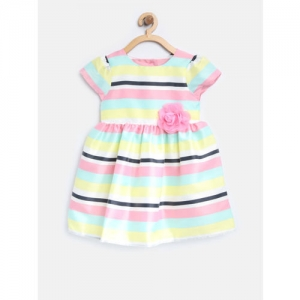 mothercare Girls Multicoloured Striped Fit and Flare Dress