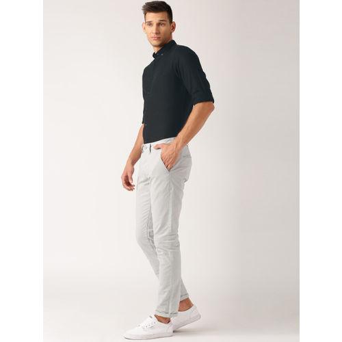 ether Men Black Regular Fit Anti Microbial Cotton Linen Shirt