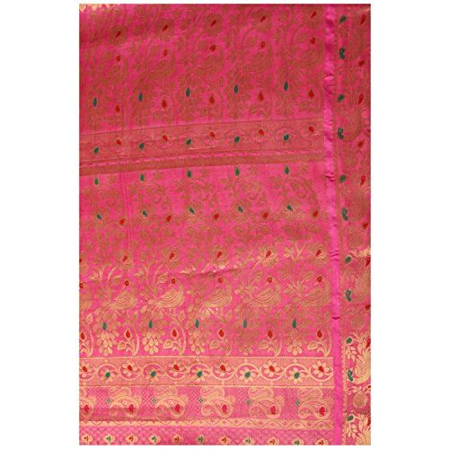 Mimosa Women's Silk Saree With Blouse Piece (4106-220-Sd-Strw_Pink)