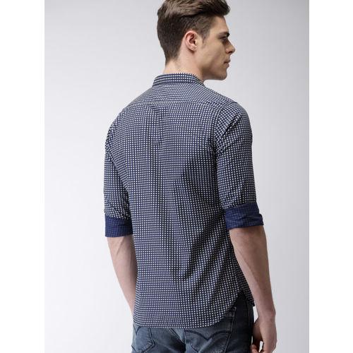Levis Men Blue Slim Fit Printed Casual Shirt