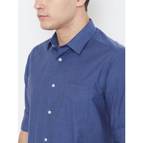 Blackberrys Men Blue Slim Fit Solid Casual Shirt