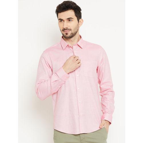 Blackberrys Men Pink Slim Fit Solid Casual Shirt