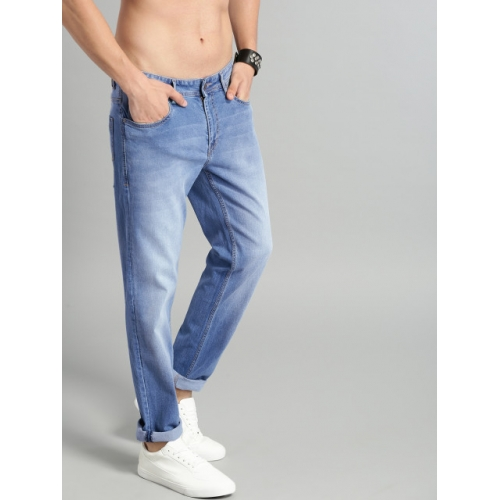 Roadster Men Blue Slim Tapered Fit Mid-Rise Clean Look Stretchable Jeans