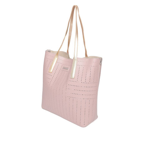 DressBerry Dusty Pink Shoulder Bag With Cut Work