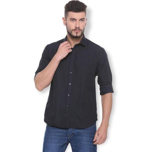Van Heusen Men Checkered Casual Black Shirt