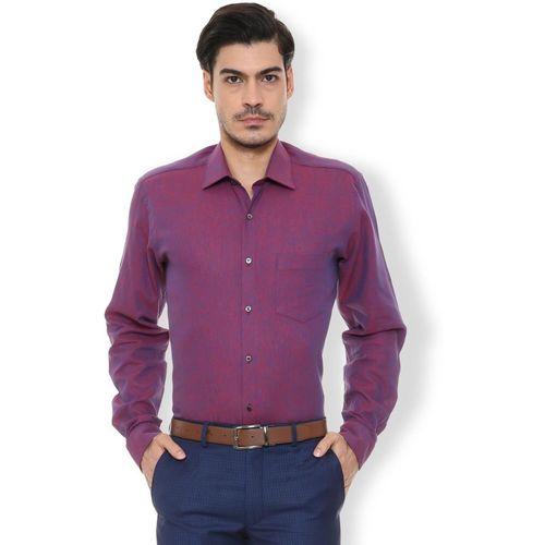 Van Heusen Men Solid Party Blue Shirt