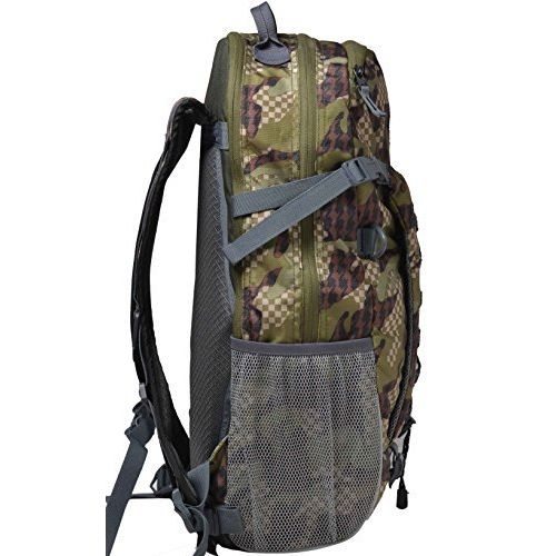 F Gear Macho Camouflage Polyester 31 Ltrs Green Trekking Backpack (2373)