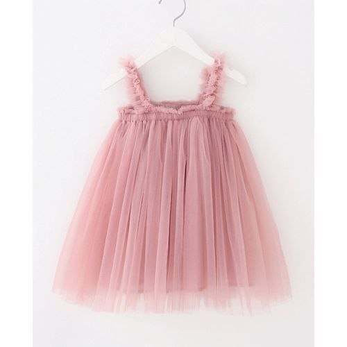 Pre Order - Awabox Sleeveless Gathered Flare Dress - Pink