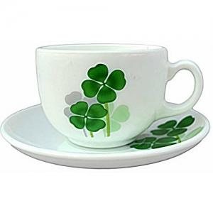 LaOpala Diva Dual Harmony Tea & Coffee Cup & Saucers 160 ML Set of 6. (White)