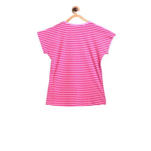 612 league Girls Pink Printed Top