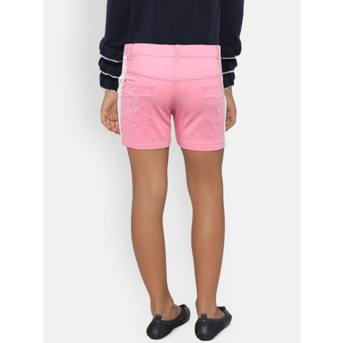 612 league Girls Pink Solid Hot Pants