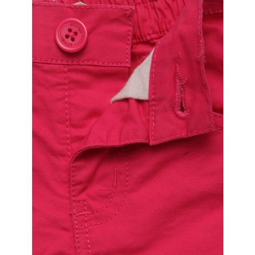 612 league Girls Pink Solid Shorts