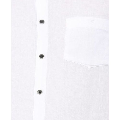Van Heusen White Slim Fit Linen Shirt
