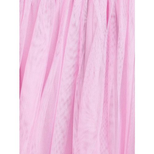 612 league Girls Pink Solid Flared Skirt