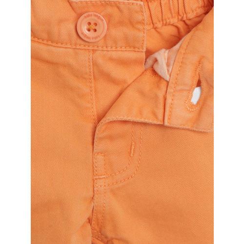 612 league Boys Orange Solid Regular Fit Shorts