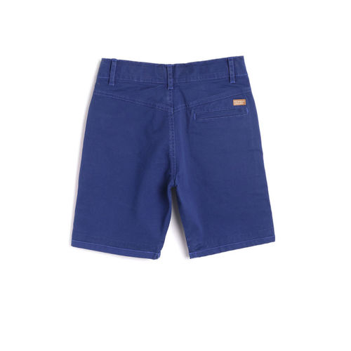 612 league Boys Blue Solid Regular Fit Denim Shorts