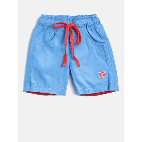 612 league Boys Blue Solid Regular Fit Shorts