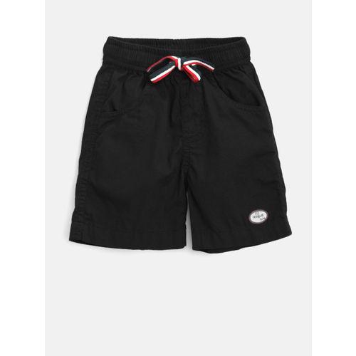 612 league Boys Black Solid Regular Fit Shorts