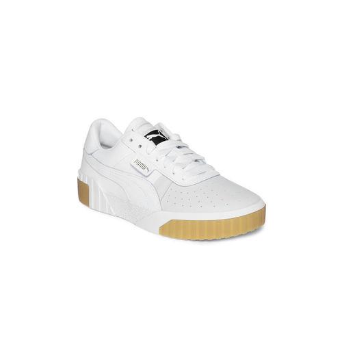 Puma Women White & Grey Cali Exotic Sneakers