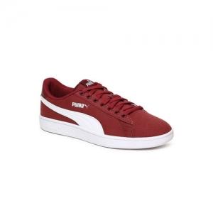 Puma Unisex Maroon Smash v2 Sneakers