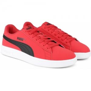 Puma Smash v2 Buck Sneakers For Men(Red)