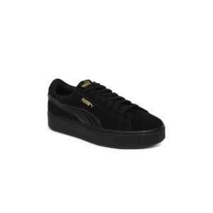 Puma Women Black Vikky Stacked SD Suede Sneakers