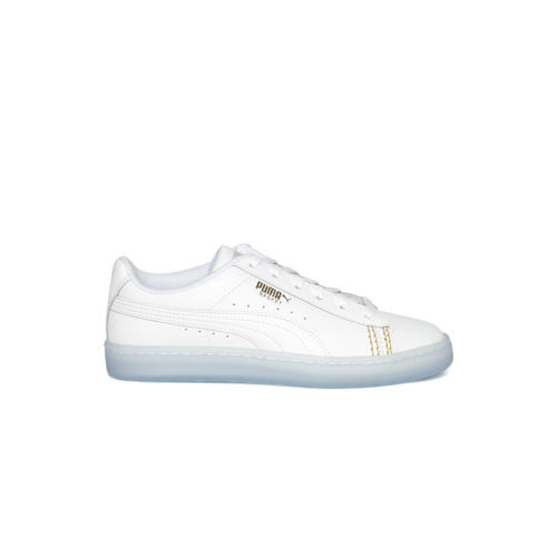 brand new b123d 6bdd7 Buy Puma Unisex White Basket Classic One8 Leather Sneakers ...