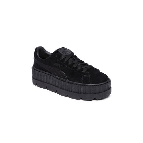 Puma Women Black Suede Sneakers