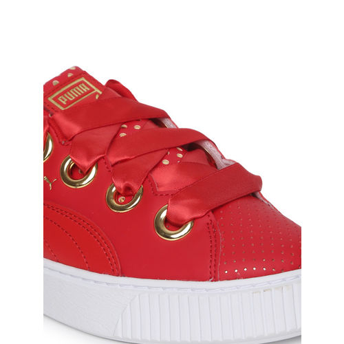 e1ee7f9e Buy Puma Women Red Platform Kiss Ath Lux Sneakers online   Looksgud.in