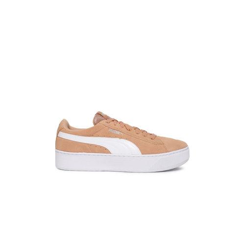 8a0d6ab0de1 Buy Puma Women Peach Coloured Vikky Platform Suede Sneakers online ...