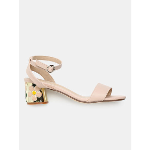 CORSICA Women Pink Solid Heeled Sandals