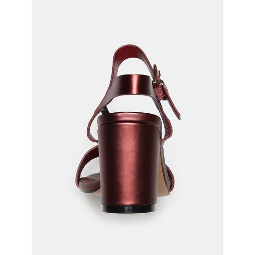 CORSICA Women Brown Solid Sandals
