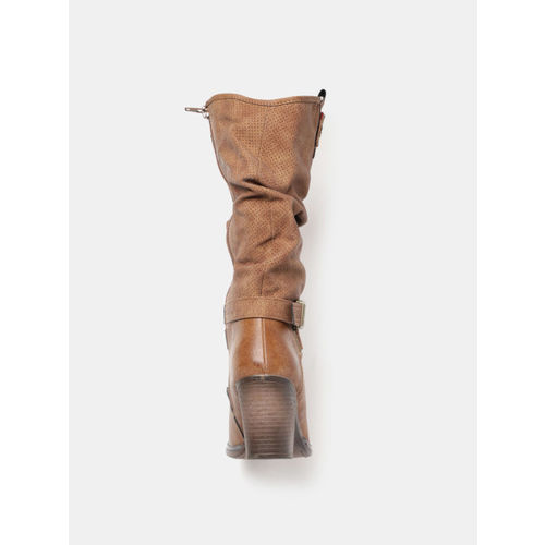 CORSICA Women Brown High-Top Heeled Boots