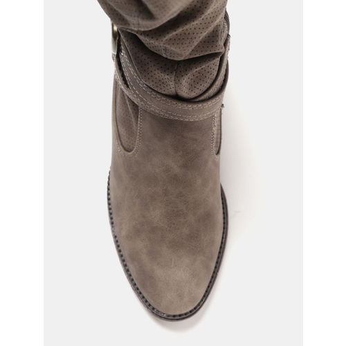 CORSICA Women Brown Solid Heeled Boots