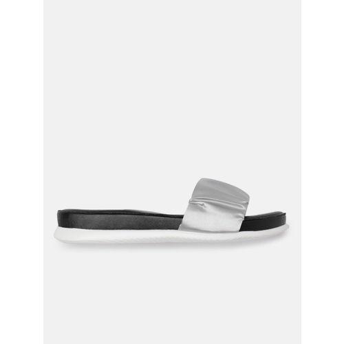 CORSICA Women Silver-Coloured Solid Open Toe Flats