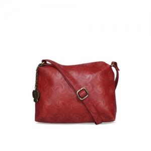 0f4fa42b4 Butterflies Red Self Design Sling Bag