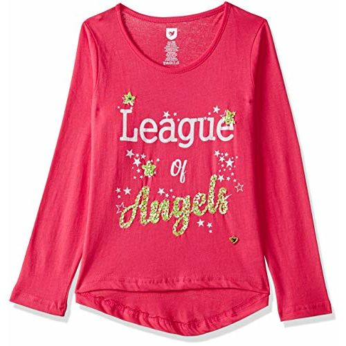 612 League Girls' Animal Print Regular Fit Long Sleeve Top