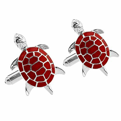ZIVOM Turtle Tortoise Fengshui Good Luck Office Formal Shirt Blazer Cufflink Pair Men Gift Box