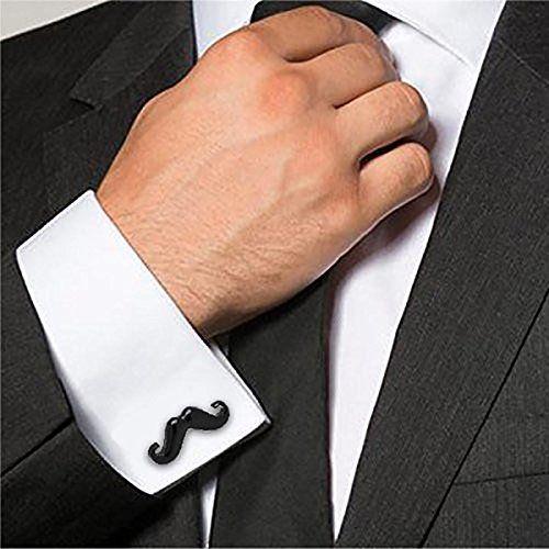 ZIVOM World Map Mooch Enamel Rhodium Brass Formal Shirt Blazer Suit Cufflink Combo Set of 2 Pair Men