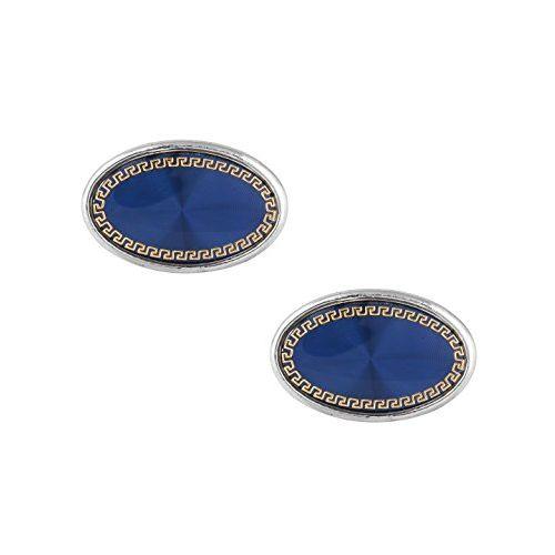 ZIVOM Glossy Round Designer Dots Silver Office Formal Shirt Blazer Cufflink Pair Men Gift Box