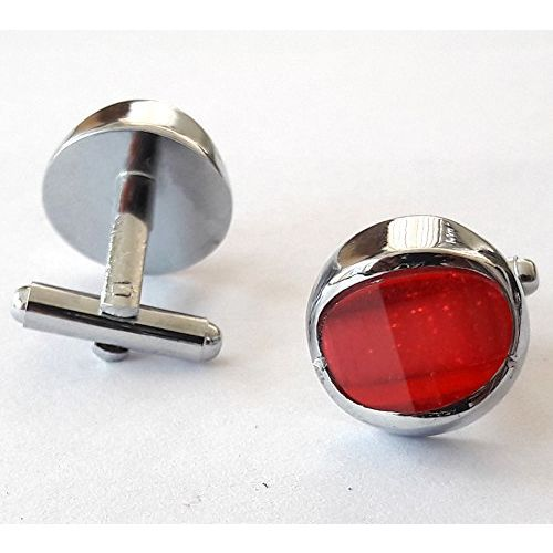 Tied Ribbons Antique Oval-Shaped Silver Cufflinks for Men Luxurious in A Gift Box