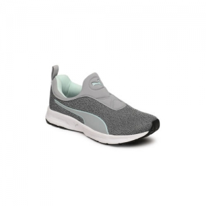 Puma Women Grey Rive Slipon IDP Running Shoes