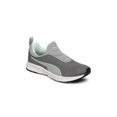 Puma Women Grey Rive Slipon IDP Running Shoes