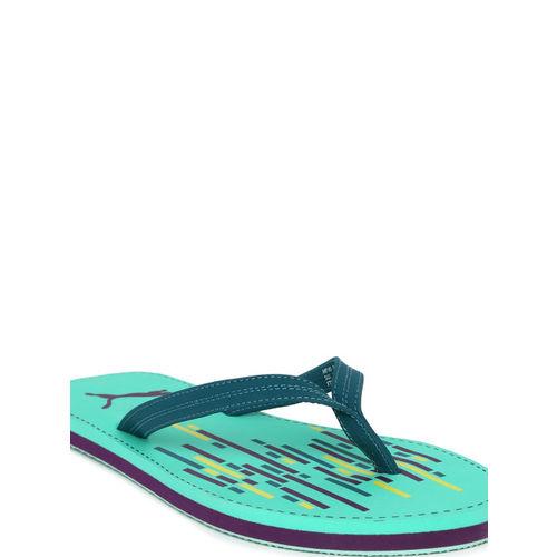 Puma Women Teal Green Solid Thong Flip-Flops