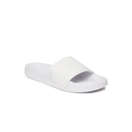 Puma Women White Solid Sliders