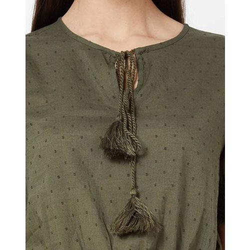 ONLY Smocked Top with Tie-Up